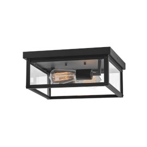 Beckham Black Two-Light Outdoor Flush Mount