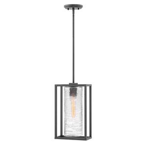 Pax Satin Black One-Light Outdoor Pendant