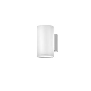 Silo Satin White Led Outdoor Wall Mount With Etched Glass