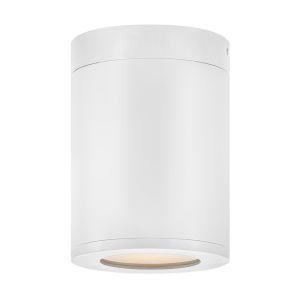 Silo Satin White LED Outdoor Flush Mount