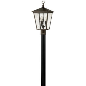 Trellis Regency Bronze Three-Light Outdoor Post Mount