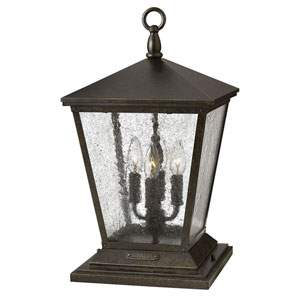 Trellis Regency Bronze Four-Light LED Outdoor Pier Mount