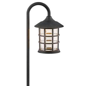 Freeport Textured Black LED Path Light
