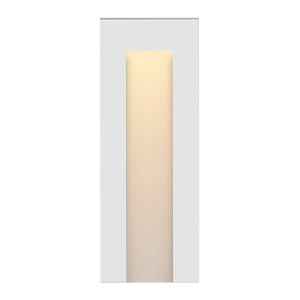 Taper Satin White LED Deck Light