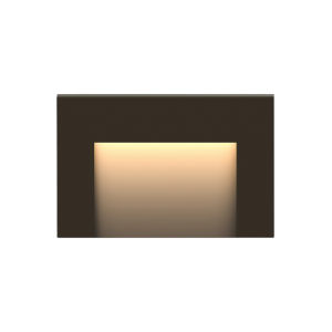 Taper Bronze 2700K LED Deck Light with Etched Glass