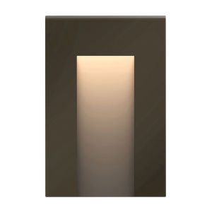 Taper Bronze Three-Inch ADA LED Outdoor Step Light