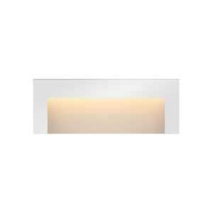 Taper Satin White 2700K LED Deck Light with Etched Glass