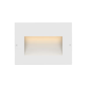 Taper Satin White 5-Inch LED Deck Light with Etched Glass