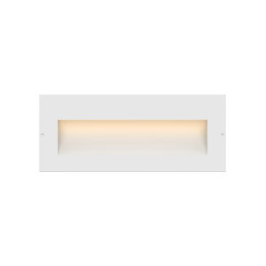 Taper Satin White LED Deck Light with Etched Glass