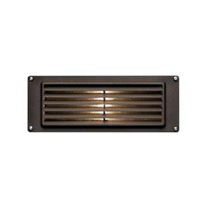 Deck Louvered Bronze LED Deck Light