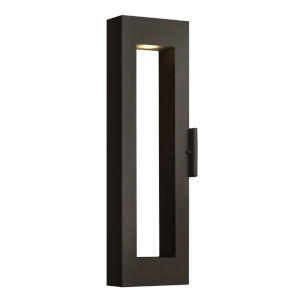Atlantis Satin Black Two-Light LED 24-Inch Outdoor Wall Mount