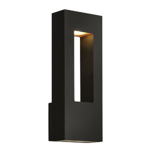 Atlantis Satin Black Two-Light LED 6-Inch Outdoor Wall Mount