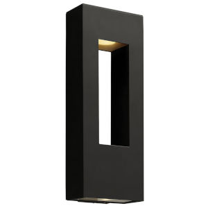 Atlantis Satin Black Two-Light LED 9-Inch Outdoor Wall Mount
