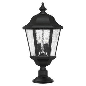 Edgewater Black Four-Light LED Outdoor Post Mount