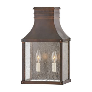 Beacon hill Blackened Copper Two-Light 8-Inch Outdoor Wall Mount