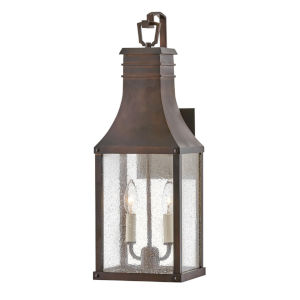Beacon hill Blackened Copper Two-Light 10-Inch Outdoor Wall Mount