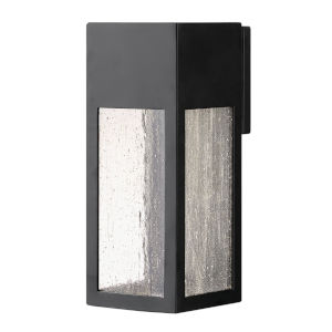 Rook Satin Black 12-Inch LED Outdoor Wall Mount