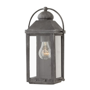 Anchorage Aged Zinc One-Light Outdoor Wall Mount