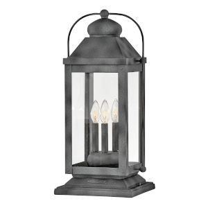 Anchorage Aged Zinc Three-Light Pier Mount