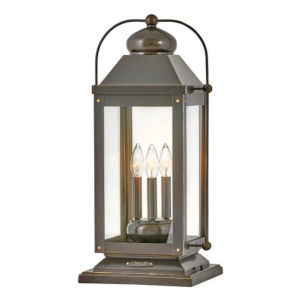 Anchorage Light Oiled Bronze Three-Light Led Pier Mount