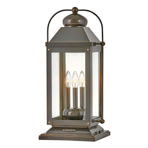 Anchorage Light Oiled Bronze Three-Light LED Outdoor Pier Mount