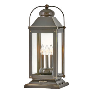 Anchorage Light Oiled Bronze Three-Light Pier Mount