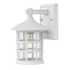 Freeport Textured White 6-Inch One-Light Outdoor Wall Mount