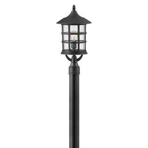 Freeport Textured Black LED Outdoor Post Mount