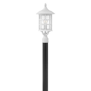 Freeport Textured White One-Light Outdoor Post Mount