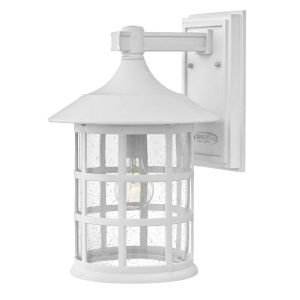 Freeport Textured White 10-Inch One-Light Outdoor Wall Mount