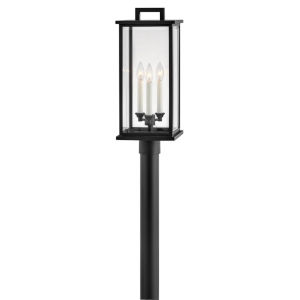 Weymouth Black Three-Light Outdoor Post Mount