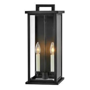 Weymouth Black 18-Inch Two-Light Outdoor Wall Mount