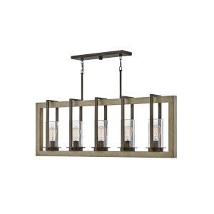 Riverwood Warm Bronze Five-Light Outdoor Pendant