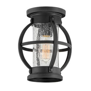 Chatham Museum Black One-Light Outdoor Flush Mount