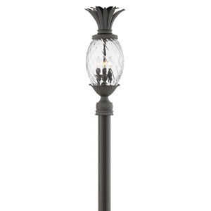 Plantation Museum Black Three-Light LED Outdoor Post Mount