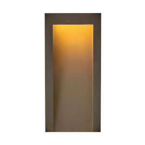 Taper Textured Oil Rubbed Bronze Seven-Inch Led Outdoor Wall Mount