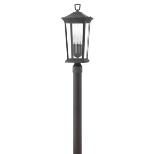 Bromley Museum Black Three-Light LED Outdoor Post Mount