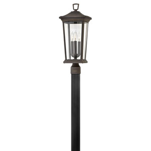 Bromley Oil Rubbed Bronze Three-Light LED Post Mount