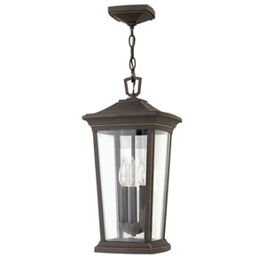 Bromley Oil Rubbed Bronze Three-Light LED Outdoor Pendant
