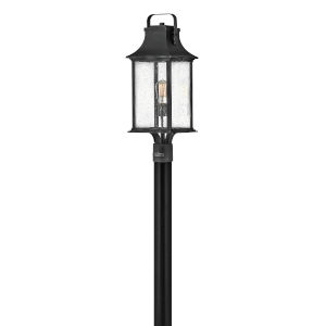Grant Textured Black One-Light Post Mount