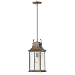 Grant Burnished Bronze One-Light Outdoor Pendant