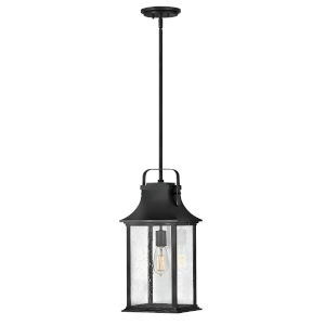 Grant Textured Black One-Light Outdoor Pendant