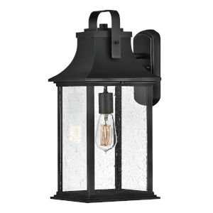 Grant Textured Black Nine-Inch One-Light Outdoor Wall Mount