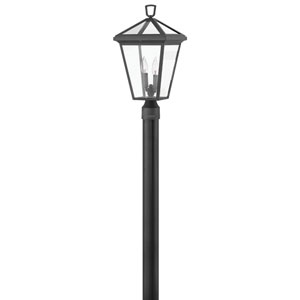 Alford Place Museum Black Two-Light LED Post Mount