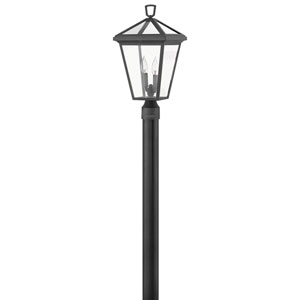 Alford Place Museum Black Two-Light LED Outdoor Post Mount