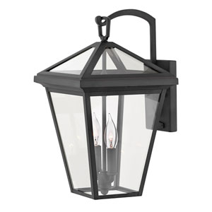 Alford Place Museum Black 10-Inch Two-Light LED Wall Mount
