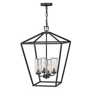 Alford Place Museum Black Four-Light LED Outdoor Pendant