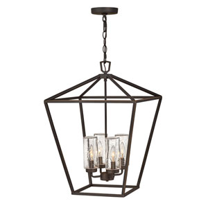 Alford Place Oil Rubbed Bronze Four-Light LED Outdoor Pendant