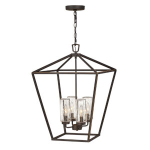 Alford Place Oil Rubbed Bronze Four-Light Outdoor Chandelier