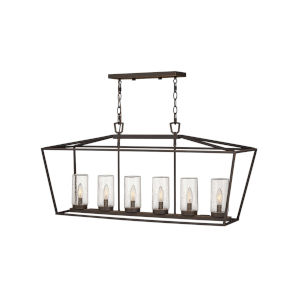Alford Place Oil Rubbed Bronze Six-Light Outdoor Chandelier